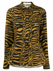 Proenza Schouler White Label tiger print shirt - Brown