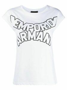Emporio Armani curved logo T-shirt - White