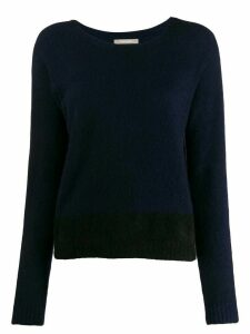 Suzusan long-sleeve fitted sweater - Blue