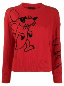 Diesel Mouse knitted long sleeve jumper - Red