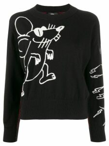 Diesel Mouse knitted long sleeve jumper - Black
