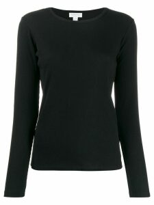Sunspel ribbed long-sleeved T-shirt - Black