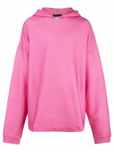 Barbara Bologna oversized rear print hoodie - PINK