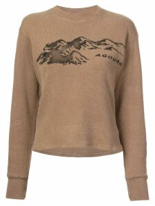 Yeezy Season 6 printed thermal sweater - Brown