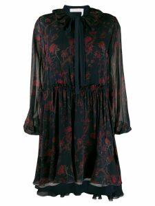 Chloé floral ruffled dress - Blue
