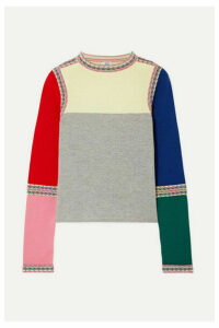 Rosie Assoulin - Color-block Wool Sweater - Red