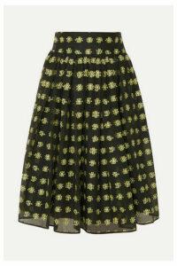 Cecilie Bahnsen - Priscilla Bow-detailed Fil Coupé Tulle Midi Skirt - Black