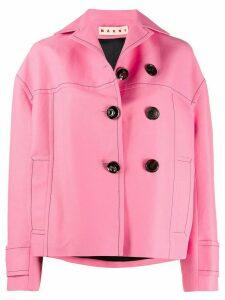 Marni contrast stitch boxy-fit jacket - PINK