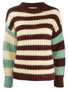 Essentiel Antwerp colour-block striped jumper - Red