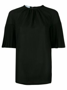 Prada pleated sleeves blouse - Black