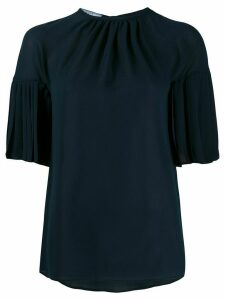 Prada pleated sleeves blouse - Blue