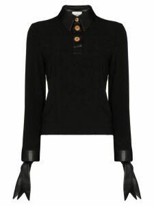 Nanushka Agnes buttoned blouse - Black