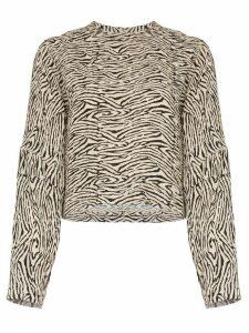 Nanushka Louise zebra-print blouse - Black
