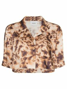 Nanushka Rhett tie-dye cropped shirt - Multicolour