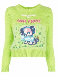Marc Jacobs x Magda Archer intarsia jumper - Green