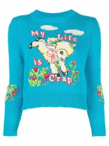 Marc Jacobs x Magda Archer intarsia sweater - Blue