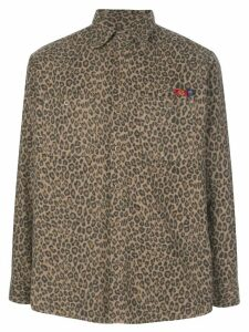 Opening Ceremony x Dickies 1922 leopard print shirt - Brown