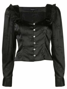 Callipygian floral jacquard blouse - Black