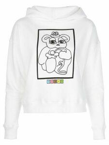 Maisie Wilen graphic-print hoodie - White