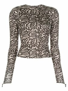 Maisie Wilen graphic-print slim-fit top - Black