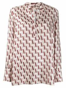 Valentino V-print blouse - PINK