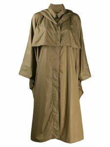 Isabel Marant cape midi raincoat - Green