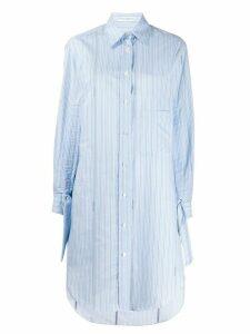 JW Anderson pinstriped buttoned shirt dress - Blue