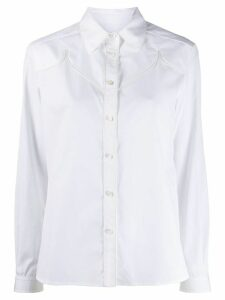 Golden Goose Texas long-sleeved buttoned shirt - White