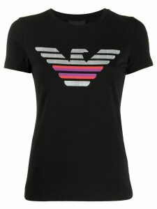 Emporio Armani logo print T-shirt - Black