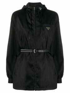 Prada belted zipped jacket - Black