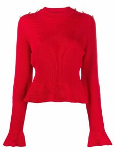 Alberta Ferretti flared cuff knitted jumper