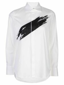 Dsquared2 glitter paint swipe shirt - White