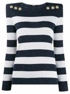 Balmain structured striped jumper - Blue