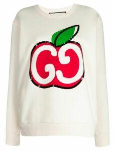 Gucci GG Apple sweatshirt - NEUTRALS