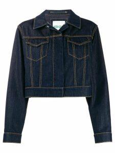 Kenzo cropped loose-fit jacket - Blue