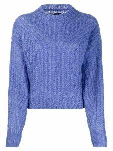 Isabel Marant Inko mock neck jumper - Blue