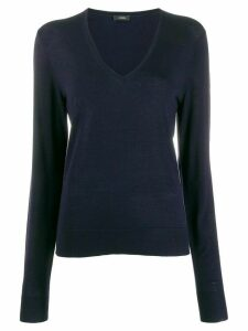 Joseph fitted v-neck jumper - Blue