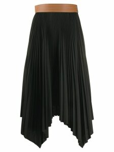 Loewe handkerchief hem pleated skirt - Black