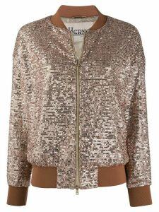 Herno sequin embellished bomber jacket - GOLD