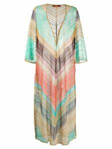 Missoni Mare striped loose-fit kaftan dress - Green