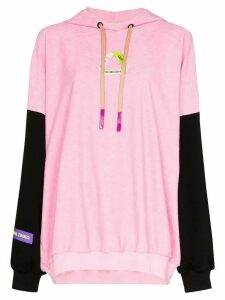 Natasha Zinko recycle badge hoodie - PINK