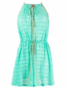 Missoni Mare crochet contrast-trimmed top - Green