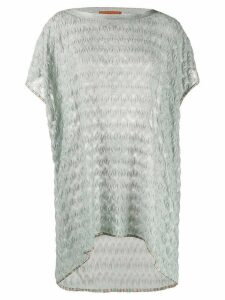 Missoni Mare crochet loose-fit top - SILVER