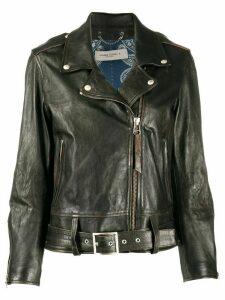 Golden Goose asymmetric biker jacket - Black