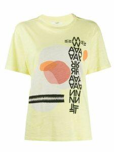 Isabel Marant Étoile Pewela graphic print T-shirt - Yellow