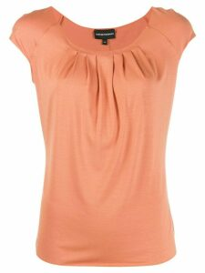 Emporio Armani pleated short-sleeve top - NEUTRALS