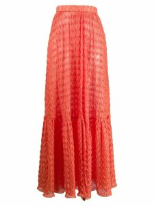 Missoni Mare knitted maxi skirt - ORANGE