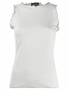 Emporio Armani ruffled sleeveless top - Grey