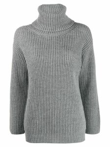 Red Valentino Red Ladies intarsia knitted jumper - Grey