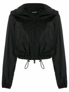 Dsquared2 logo print hooded jacket - Black
